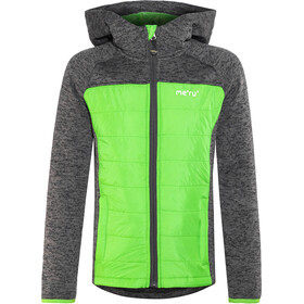 Meru Prag Knitted Fleece & Padded Jacket Kids carbon/green